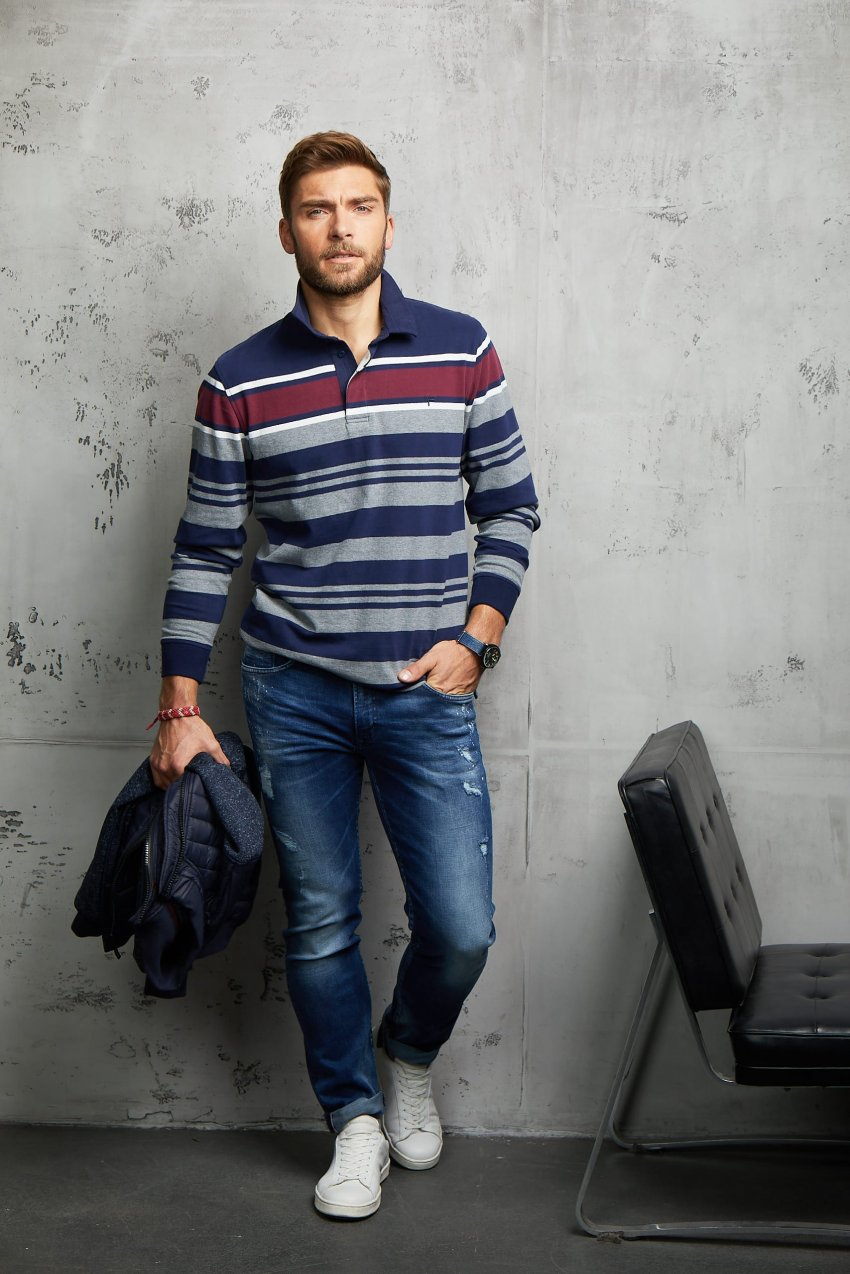 silhouette outfit homme pioneer jean denim  collection automne hiver 2019